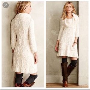 Anthropologie Sleeping on Snow Meli sweater dress